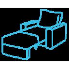 Раскладные мягкие кресла